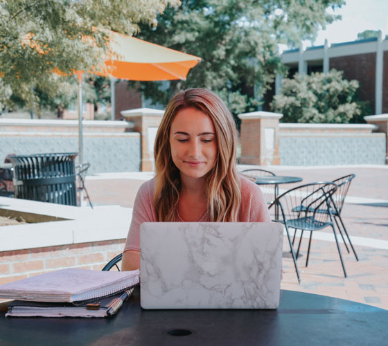 Student at Laptop