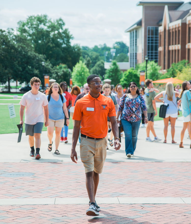 Student Leading Tour
