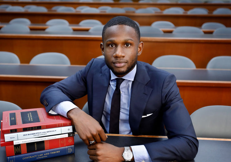 Student with Law Books