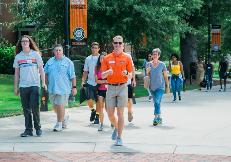 Student Leading Tour